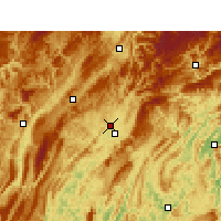 Nearby Forecast Locations - Laifeng - Χάρτης