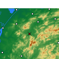 Nearby Forecast Locations - Tongcheng - Χάρτης
