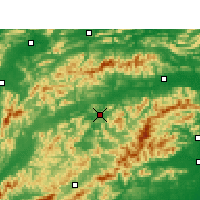 Nearby Forecast Locations - Xiushui - Χάρτης