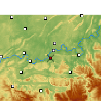Nearby Forecast Locations - Naxi - Χάρτης