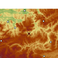 Nearby Forecast Locations - Gulin - Χάρτης