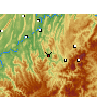 Nearby Forecast Locations - Qijiang - Χάρτης