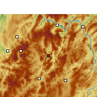 Nearby Forecast Locations - Daozhen - Χάρτης