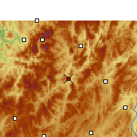 Nearby Forecast Locations - Zheng'an - Χάρτης