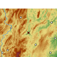 Nearby Forecast Locations - Xiushan - Χάρτης