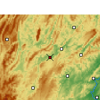 Nearby Forecast Locations - Huayuan - Χάρτης