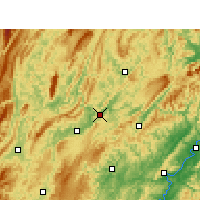 Nearby Forecast Locations - Baojing - Χάρτης