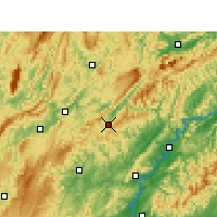Nearby Forecast Locations - Guzhang - Χάρτης