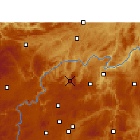 Nearby Forecast Locations - Xifeng/GZH - Χάρτης