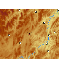 Nearby Forecast Locations - Fenggang - Χάρτης
