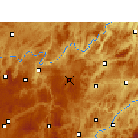 Nearby Forecast Locations - Weng'an - Χάρτης