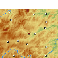 Nearby Forecast Locations - Cengong - Χάρτης