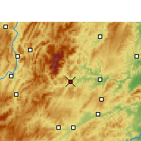 Nearby Forecast Locations - Jiangkou - Χάρτης