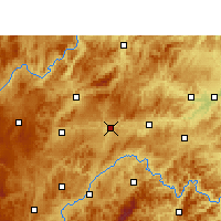 Nearby Forecast Locations - Shibing - Χάρτης