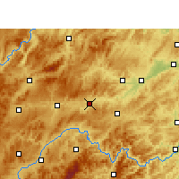 Nearby Forecast Locations - Zhenyuan/GZH - Χάρτης