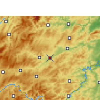 Nearby Forecast Locations - Yuping - Χάρτης