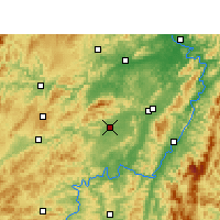 Nearby Forecast Locations - Zhijiang - Χάρτης