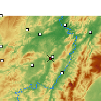 Nearby Forecast Locations - Zhongfang - Χάρτης