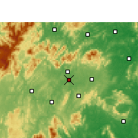 Nearby Forecast Locations - Shaoyang - Χάρτης
