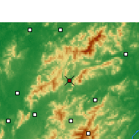Nearby Forecast Locations - Lianhua - Χάρτης