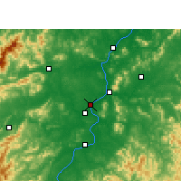 Nearby Forecast Locations - Ji'an - Χάρτης