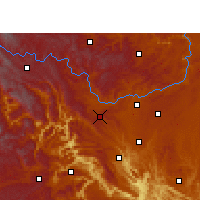 Nearby Forecast Locations - Liuzhi - Χάρτης