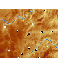 Nearby Forecast Locations - Huangping/GZH - Χάρτης