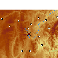 Nearby Forecast Locations - Duyun - Χάρτης