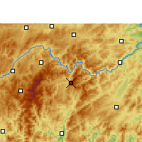 Nearby Forecast Locations - Jianhe - Χάρτης