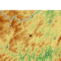 Nearby Forecast Locations - Liping - Χάρτης
