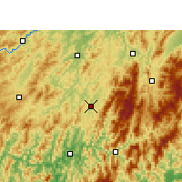 Nearby Forecast Locations - Tongdao - Χάρτης