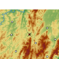 Nearby Forecast Locations - Suining/HUN - Χάρτης