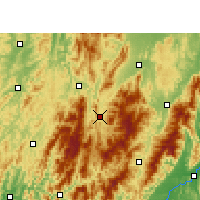 Nearby Forecast Locations - Chengbu - Χάρτης