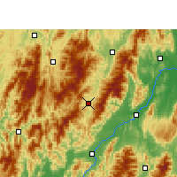 Nearby Forecast Locations - Ziyuan - Χάρτης
