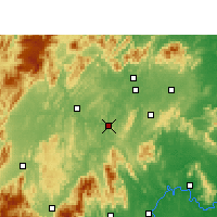 Nearby Forecast Locations - Shaoyang Xian - Χάρτης