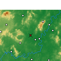 Nearby Forecast Locations - Hengyang Xian - Χάρτης