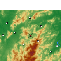 Nearby Forecast Locations - Ninggang - Χάρτης