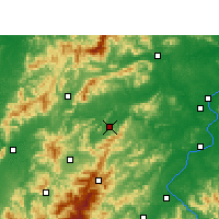 Nearby Forecast Locations - Yongxin - Χάρτης