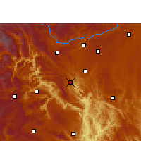 Nearby Forecast Locations - Guanling - Χάρτης