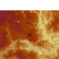 Nearby Forecast Locations - Anlong - Χάρτης