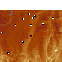 Nearby Forecast Locations - Huishui - Χάρτης
