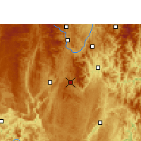 Nearby Forecast Locations - Dushan - Χάρτης