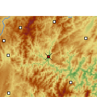 Nearby Forecast Locations - Rongjiang - Χάρτης