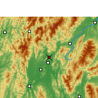 Nearby Forecast Locations - Lingchuan - Χάρτης