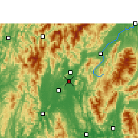 Nearby Forecast Locations - Guilin - Χάρτης