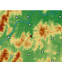 Nearby Forecast Locations - Shuangpai - Χάρτης