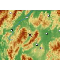 Nearby Forecast Locations - Guanyang - Χάρτης