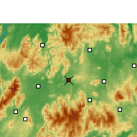Nearby Forecast Locations - Ningyuan - Χάρτης