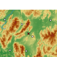 Nearby Forecast Locations - Jiangyong - Χάρτης