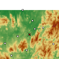 Nearby Forecast Locations - Chenzhou - Χάρτης